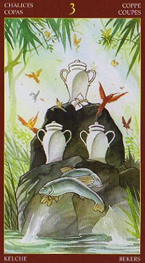 Afro-Brazilian Tarot - Three of Chalices