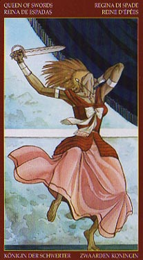 Afro-Brazilian Tarot - Queen of Swords