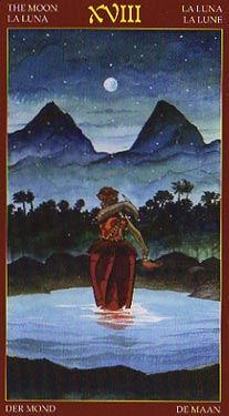 Afro-Brazilian Tarot - XVIII The Moon