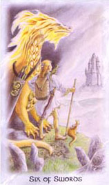 The Celtic Dragon Tarot - Six of Swords
