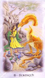 The Celtic Dragon Tarot - 8 - Strength