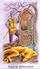 The Celtic Dragon Tarot - King of Pentacles