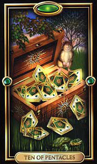 The Gilded Tarot - Ten of Pentacles