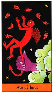 The Halloween Tarot - Ace of Imps