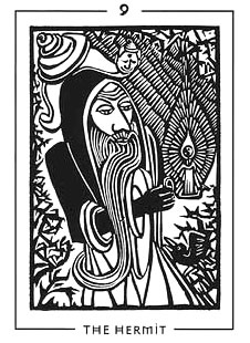 The Light and Shadow Tarot - 9 - The Hermit