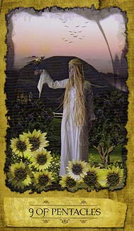 Mystic Dreamer Tarot - Nine of Pentacles