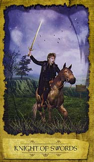 Mystic Dreamer Tarot - Knight of Swords