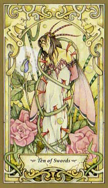 Mystic Faerie Tarot - Ten of Swords