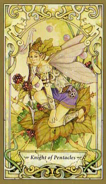 Mystic Faerie Tarot - Knight of Pentacles