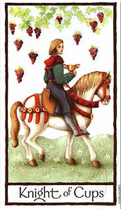 Old English Tarot - Knight of Cups