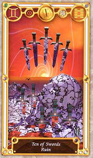 Quest Tarot - Ten of Swords