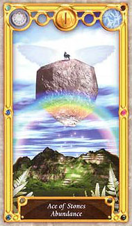 Quest Tarot - Ace of Stones