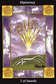 The Sacred Circle Tarot - Seven of Swords