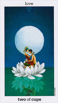 Sun and Moon Tarot - Two of Cups