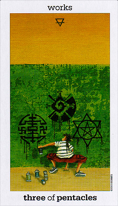 Sun and Moon Tarot - Three of Pentacles