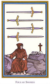 Tarot of the Saints - Four of Swords
