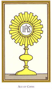 Tarot of the Saints - Ace of Coins