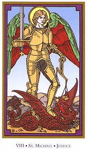 Tarot of the Saints - VIII - Justice