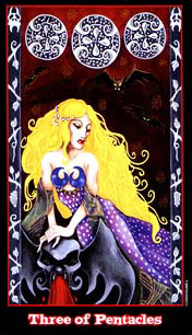 The Vampire Tarot - Three of Pentacles